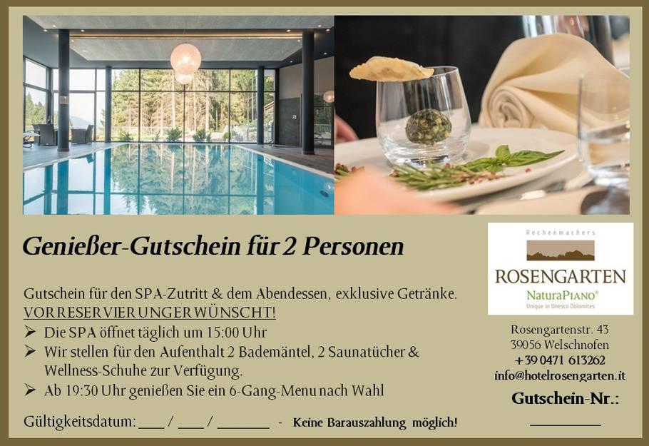 Einen Gutschein Für Das Hotel Rosengarten Verschenken